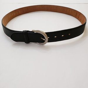 Macy's Black Leather Eagle USA Embossed Belt 38/40